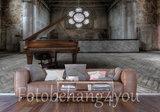 Oude piano behang