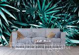 palm behang groen