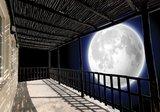 Terras fotobehang maan