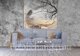 Concrete behang