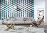 Abstract fotobehang Hexagon patroon