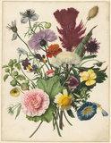 Boeket bloemen fotobehang Rijksstudio