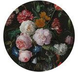 Behangcirkel Stilleven Bloemen De Heem