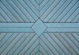 Blauwe planken behang