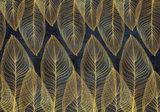 Art Deco behang Gouden veren
