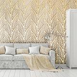 Gouden Bladeren patroon fotobehang