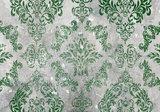 Barok op beton behang groen