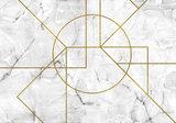Marmer behang Goud Patroon