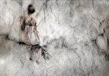 Vrouw op schommel behang