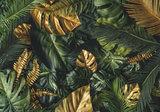 Monstera bladeren behang Groen goud