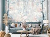 Aquarel behang Pastel Forest