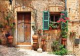 Fotobehang straatje Toscane