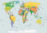Staatkundige wereldkaart fotobehang