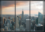 New York fotobehang Window view