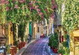Bloemenstraatje Italie fotobehang