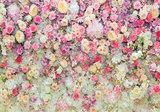 Bloemen fotobehang Bloemenmuur