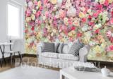 Bloemen fotobehang muur