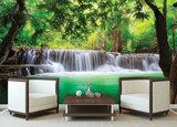 jungle fotobehang waterval
