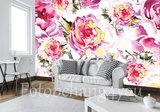 aquarel rozen behang
