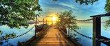 aanlegsteiger poster sunset