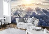 Boven de wolken behang