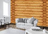 Blokhut hout blank fotobehang