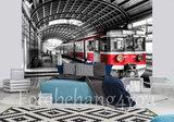 Metro behang