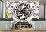 Alchemy behang dioscuri skulls