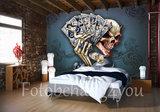 Cars skull dice Alchemy fotobehang