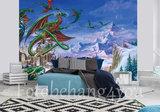 Alchemy dragons behang