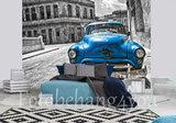 Auto behang blauw