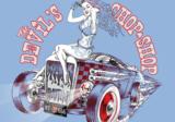 Devil Chop Shop Alchemy fotobehang blauw