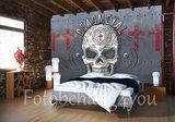 Dead metal Skull Alchemy fotobehang_