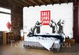 Sale Ends Today fotobehang Banksy_