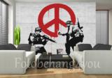 CND Soldiers fotobehang Banksy_