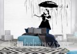 Banksy fotobehang Umbrella girl