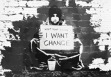 Keep Your Coins fotobehang Banksy_