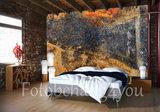 abstract behang koperlook