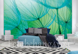 dandelion fotobehang groen