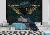 Alchemy fotobehang Dark Angel Hart groen