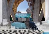 Strand fotobehang 3D