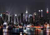 New York fotobehang at night