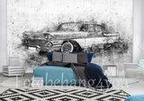 Chevrolet oldtimer behang