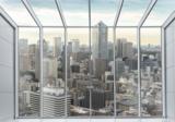 City skyline 3D fotobehang
