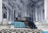 Bos in de sneeuw behang