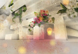 Bloemen 3D bstract fotobehang