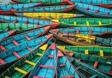 Kleurrijke boten fotobehang
