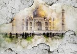 Industrieel fotobehang Taj Mahal
