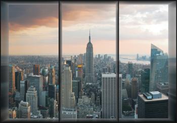 New York fotobehang Window View