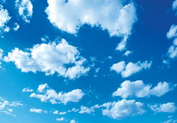 Blauwe lucht en wolken fotobehang